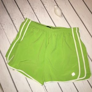 Moving Comfort Neon Green Athletic Shorts Size L